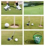 En golfboll, samling Royaltyfri Fotografi