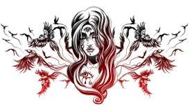 En gothflicka Royaltyfria Bilder
