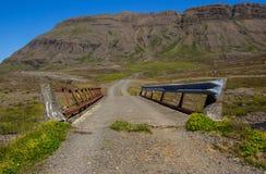 En grändbro Arkivbild