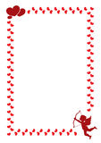 En gräns för valentin dag stock illustrationer