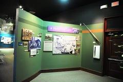 En gränslivutställning på den kulturella drevbussgaraget för delta, Helena Arkansas royaltyfri bild