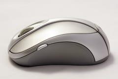 En grå mus för två signal på en vit bakgrund Fotografering för Bildbyråer