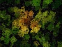 En grön abstrakt bakgrund som liknar solrosen Arkivbild