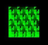 En grön modell av många boxas Arkivfoton