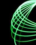 En grön spirographic symmetrisk form Royaltyfri Foto