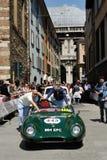 En gröna Lotus Eleven S2 Le Mans Royaltyfri Fotografi