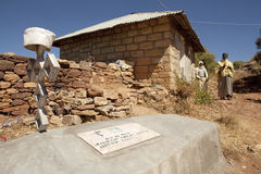 En grav i Etiopien Royaltyfri Fotografi