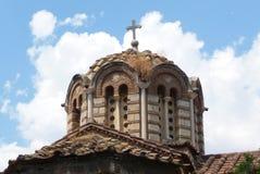 En grekisk kyrka Fotografering för Bildbyråer