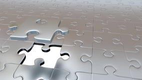 En Grey Puzzle Piece som flyr från allt annat Grey Pieces och passande grönt