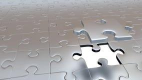 En Grey Puzzle Piece som flyr från allt annat Grey Pieces och passande guld-