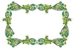 En grön gräns Arkivfoto