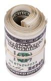 Rulle av 100 US$-räkningar Royaltyfri Bild