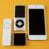 En grupp av Apple iPod Royaltyfri Foto