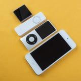 En grupp av Apple iPod Royaltyfri Fotografi