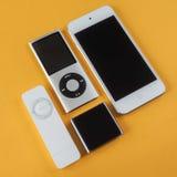 En grupp av Apple iPod Arkivfoton