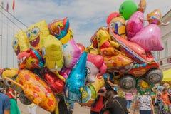 En grupp av ballonger Royaltyfri Fotografi