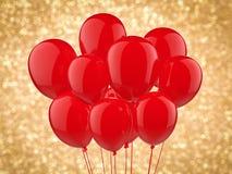 En grupp av ballonger Arkivfoto