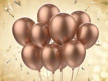 En grupp av ballonger Fotografering för Bildbyråer
