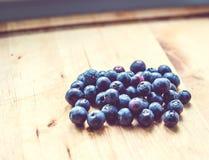 En grupp av blåbär Arkivbild