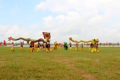en grupp av den asiatiska folkdansen Royaltyfri Fotografi