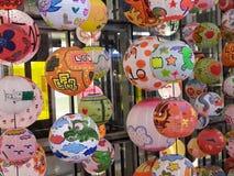 En grupp av den kinesiska lyktan under lyckligt nytt år arkivfoton