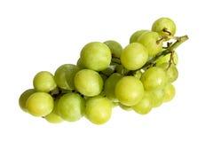 En grupp av gröna druvor arkivfoto