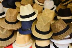 En grupp av hattar Arkivbild