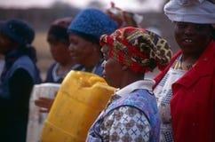 En grupp av kvinnor i Sydafrika Arkivfoton