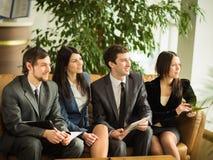 En grupp av lyckade affärsmän Arkivbild