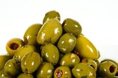 En grupp av oliv för äta Arkivbilder