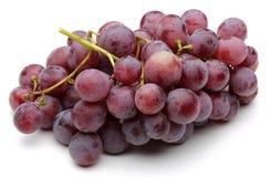 En grupp av röda druvor royaltyfri fotografi
