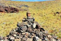En grupp av stenar Royaltyfria Bilder
