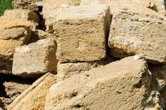 En grupp av stenar stänger sig upp Arkivbild