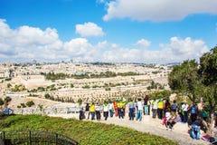En grupp av turister Arkivbilder