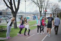En grupp av ungdomar Royaltyfri Foto