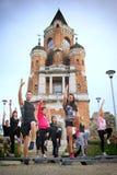 En grupp av utbildade ungdomar Royaltyfri Foto