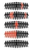 En grupp människorsymbol Fotografering för Bildbyråer