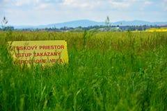 En gul varning Royaltyfria Foton