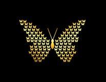En guld- fjärilsillustration Royaltyfri Fotografi