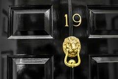 En guld- lejon formad rappare royaltyfri foto