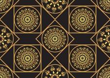 En guld- seamlesslmodell för kortet eller inbjudan med islam, Royaltyfria Bilder