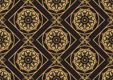 En guld- seamlesslmodell för kortet eller inbjudan med islam, Arkivfoton