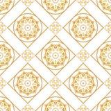En guld- seamlesslmodell för kortet eller inbjudan med islam, Royaltyfria Foton