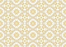En guld- seamlesslmodell för kortet eller inbjudan med islam, Arkivfoto