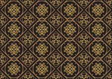 En guld- seamlesslmodell för kortet eller inbjudan med islam, Arkivbilder