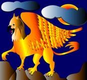 en-guldgriffon Royaltyfria Bilder