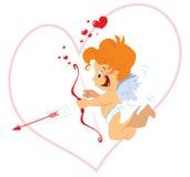 Cupid med pilbågen vektor illustrationer