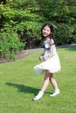 En gullig lite asiatisk flicka Arkivbild