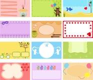 En gullig samling av det vektoretiketten/kortet Fotografering för Bildbyråer