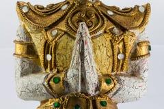 En hälsning och en vördnad till Thailand Arkivbild